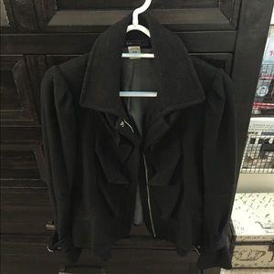 Ruffled wool jacket